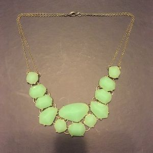 Green Opal Statement Necklace